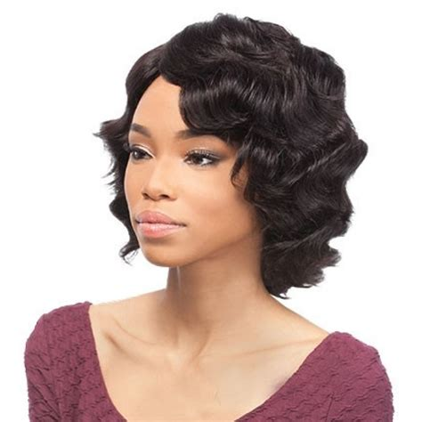 hair wigs outre human hair wig vintage color 1b