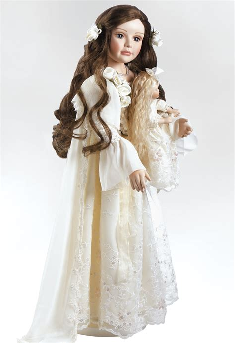 porcelain doll with porcelain doll annabella heirloom doll 25