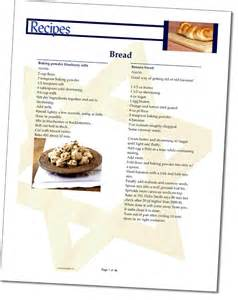 Recipe Template For Cookbook by Cookbook Software Template