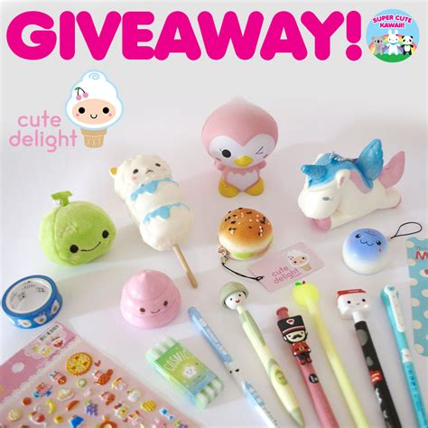 Kawaii Giveaway - cute delight kawaii stationery squishies giveaway super cute kawaii