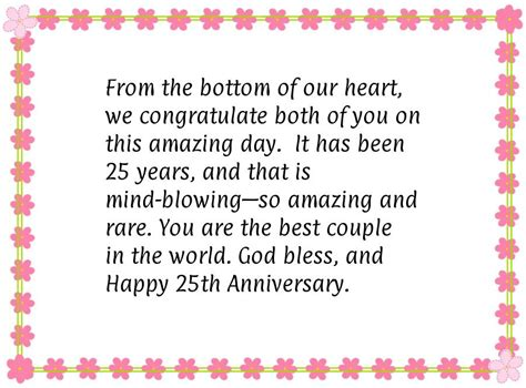 Wedding Anniversary Quotes For Parents 25th by Happy 25th Wedding Anniversary Wishes