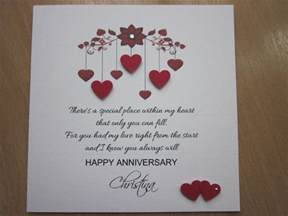 personalised handmade anniversary engagement wedding day card husband ebay