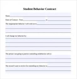 sample behaviour contract 14 free documents download in