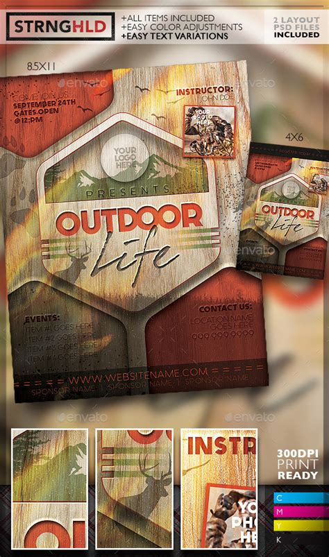 Vintage Outdoor Hunting Poster Template Www Moderngentz Com Your Template Resource Outdoor Flyer Template