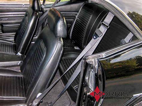 nova bench seat 68 73 nova bench seat 3 point seat belt front mcsb1 5 bk bs