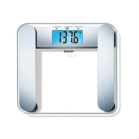 beurer bathroom scale beurer glass body analysis scale with backlit lcd in blue