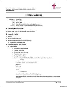 Template For Meeting Agenda by Free Business Meeting Agenda Template Template Update234