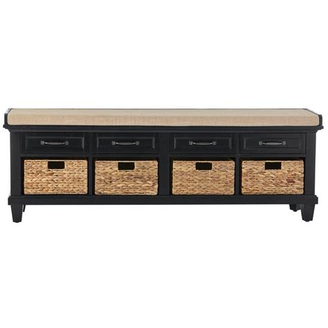 Home Decorators Bench by Home Decorators Collection Martin Black Shoe Storage Bench 9613810200 The Home Depot