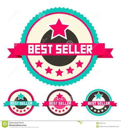Best Seller 1895 Set Two In best seller vector labels set stock vector image 55251718