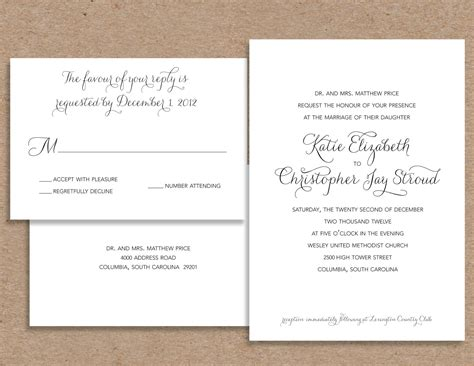 Wedding Invitations Formal by Formal Wedding Invitation Wording Theruntime