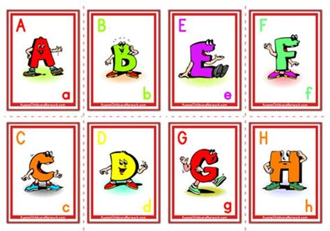 printable uppercase letters flashcards alphabet flashcards uppercase cartoon letter aussie