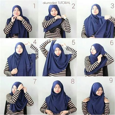 tutorial hijab simple namun elegant 5 tutorial hijab chiffon bergaya simple