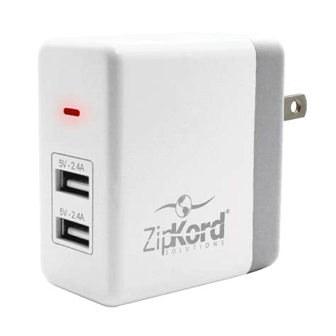 Wall Usb Adapter 4 8 dual usb wall adapter zipkord