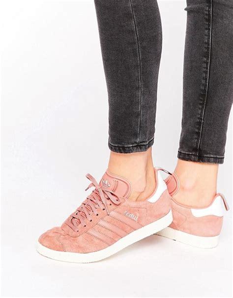 adidas adidas originals dusky pink ponyskin gazelle trainers