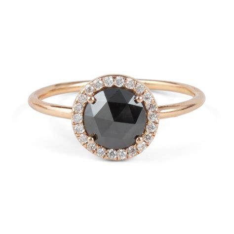 black aura ring wedding engagement catbird
