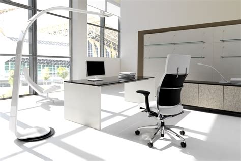 white modern commercial office furniture ideas