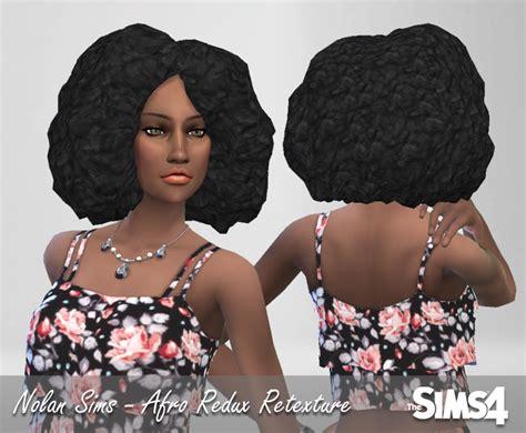 sims 4 cc afro lumia lover sims afro redux hairstyle retextured sims 4