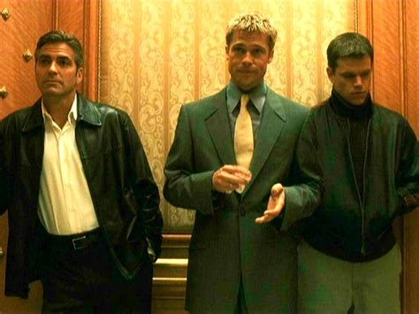 Pitt Clooney And Damon Get Cemented by Oceans Eleven 2001 Ala