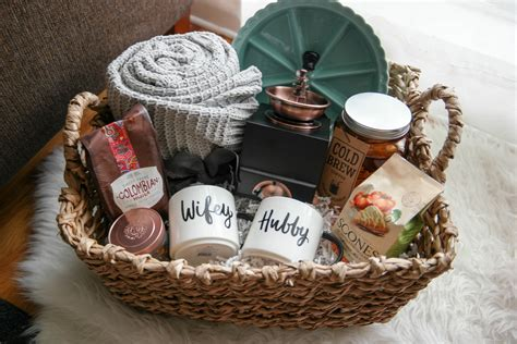 christmas gift ideas for newly married couple a cozy morning gift basket a gift for newlyweds new momma survival