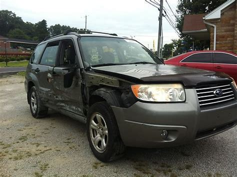 crashed subaru purchase used 2006 subaru forester salvage title in