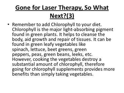 The Major Light Absorbing Pigment In Green Plant Photosynthesis Is by Does Laser Treatment To Stop Work