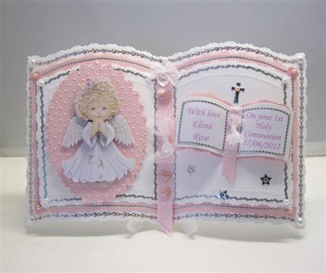 Handmade Communion Cards - baby birth christening holy communion handmade cards