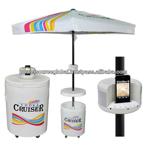Cooler Table by Outdoor Cooler Table With Umbrella Buy Beverage Cooler