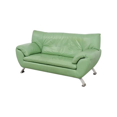 nicoletti sofa for sale 74 off nicoletti nicoletti leather green sofa sofas