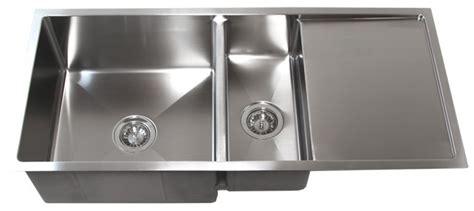 undermount stainless sinks kitchen sinks 42 quot stainless steel undermount kitchen sink w drain board tz4219cfd