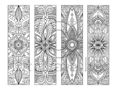 peace colouring bookmarks 4 mandala colouring bookmarks set 5 instant download