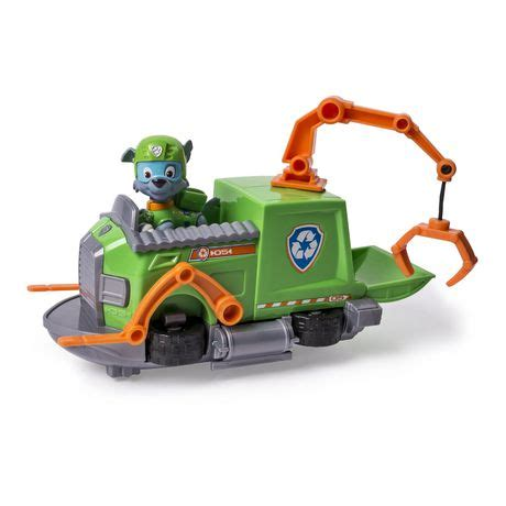 walmart paw patrol boat paw patrol rocky s tugboat toy vehicle and action figure
