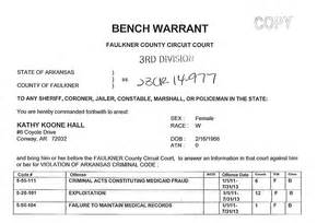 What Happens When A Bench Warrant Is Issued Arrest Warrant For Kathy Hall