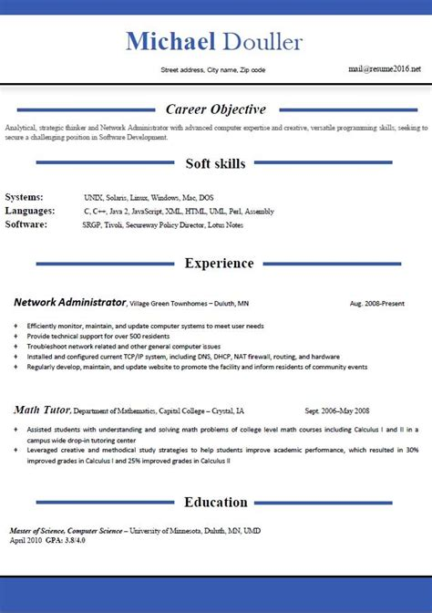 Free Word Resume Templates 2016 by Resume Templates 2016 Which One Should You Choose