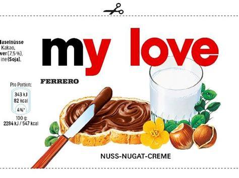 design nutella label send you custom nutella jar labels by phil good