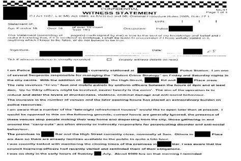 section 9 witness statement template bloomsbury police officer and witness statements