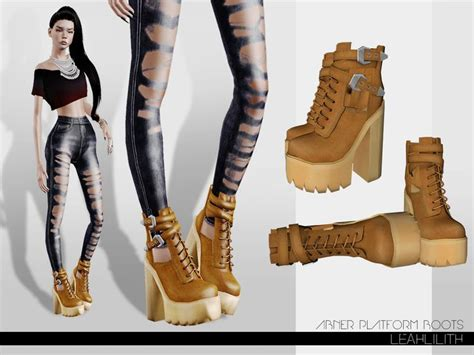 leahlillith abner platform boots sims 3 the