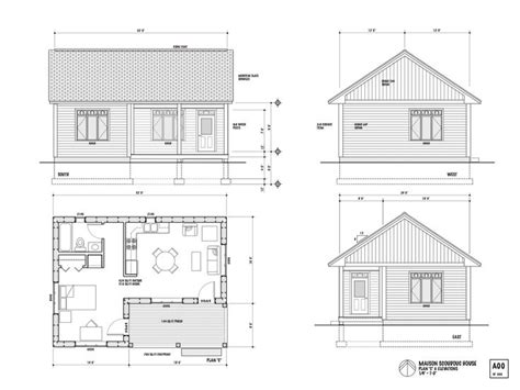 one bedroom house plans one room house layout the maison scoudouc house plan 16556 | ee175ce37b13d3ac2e181d53ca424714