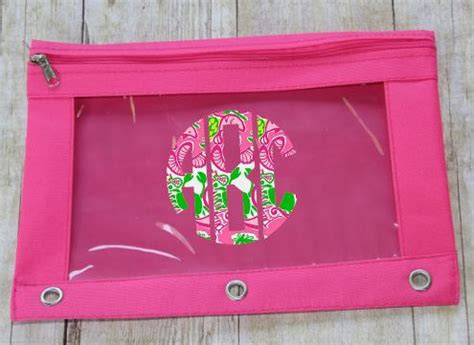 lilly pulitzer monogrammed pencil pouch lilly pulitzer decal