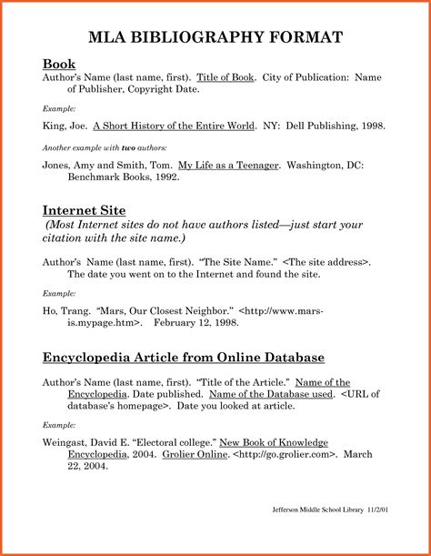 work cited mla format template works cited mla exle mla format bibliography 82689 png