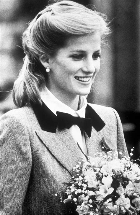 Princess Diana, Princess of Wales, in a new hairstyle and