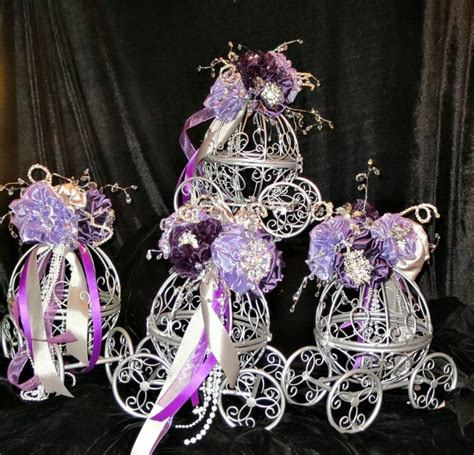 cinderella carriages for centerpieces for a wedding
