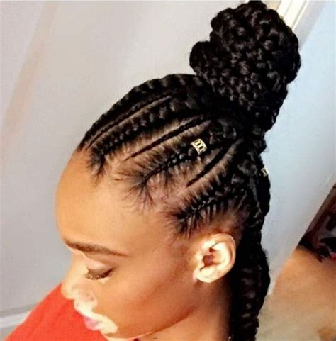 5 Box Braids Bun for Beautiful Black Women   New Natural