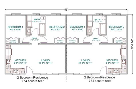 2 Bedroom Duplex Floor House Plans 2 Bedroom Duplex