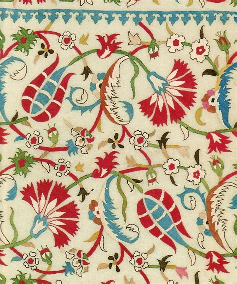 flower design textile style court now and then