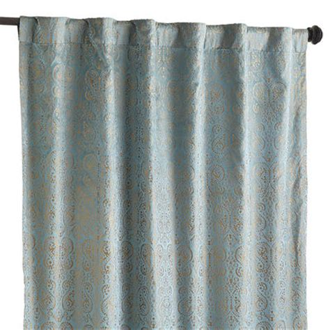 pier one paisley curtains velvet paisley curtain blue pier 1 imports