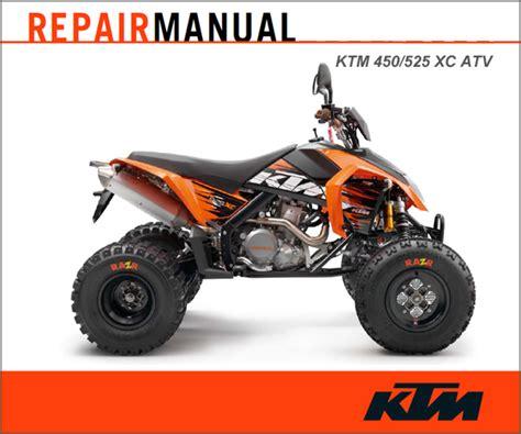 Ktm Manuals Ktm 2008 2011 450 525 Xc Atv Repair Manual Cyclepedia