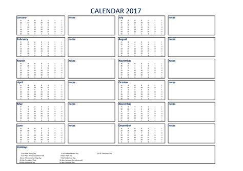 printable calendar 2017 a3 free 2017 calendar excel a3 with notes templates at