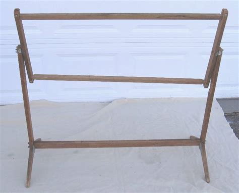 vintage wood quilting frame august partial estate