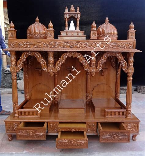 code 64 wooden carved teakwood temple mandir furniture
