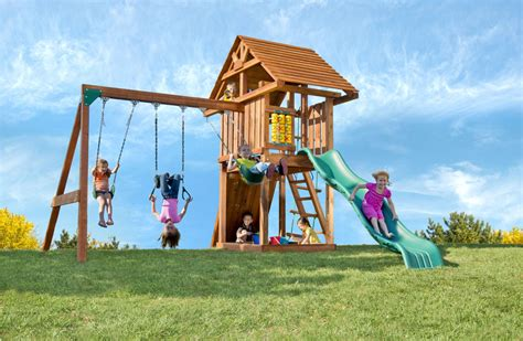 cheap wooden swing sets with free shipping the circus outdoor swing set with slide sandbox rockwall